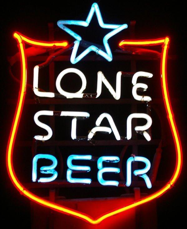 1257: Vintage Lone Star Beer Neon Sign : Lot 1257