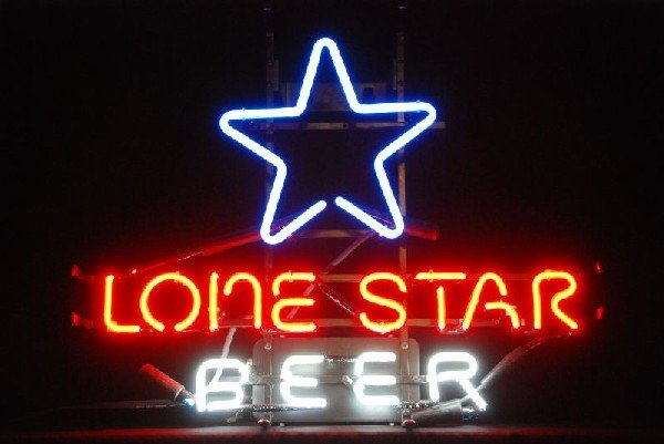39: Lone Star Beer Neon Sign : Lot 39