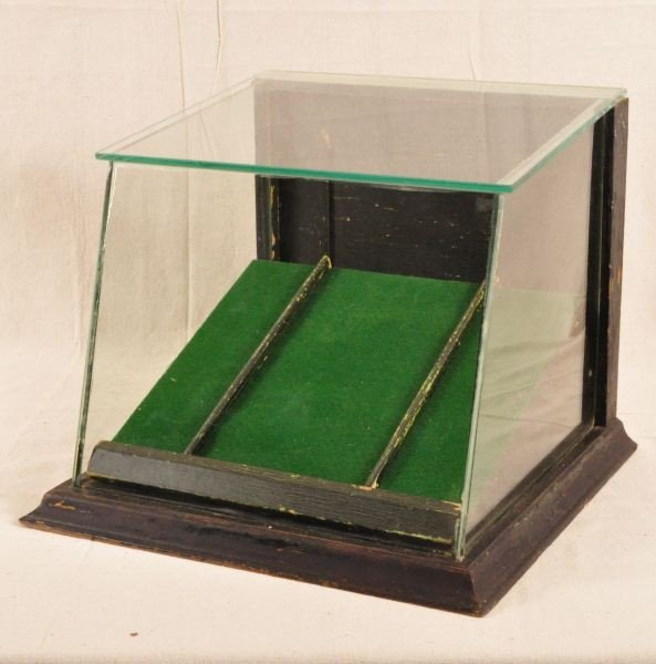 Countertop Glass Display Case : 436: Slant Front Countertop Glass Display Case : Lot 436