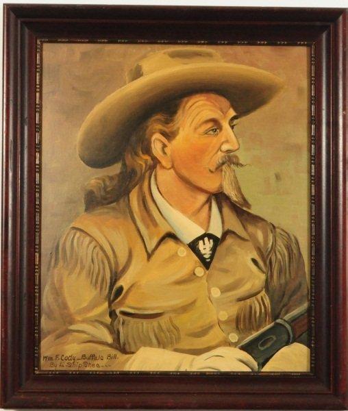 119 Buffalo Bill Cody Painting Louis Shipshee Lot 119