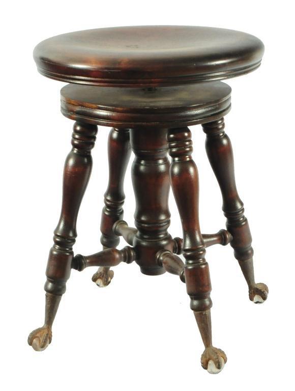 Piano Stool Ball Amp Claw Feet Lot 380