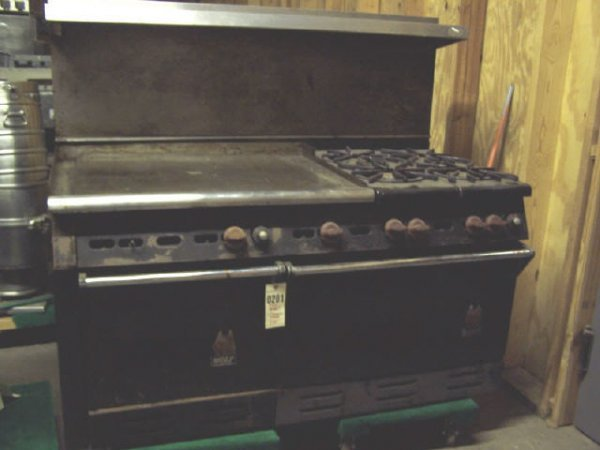 504a Wolf Commercial Oven And Gas Stove Lot 504a