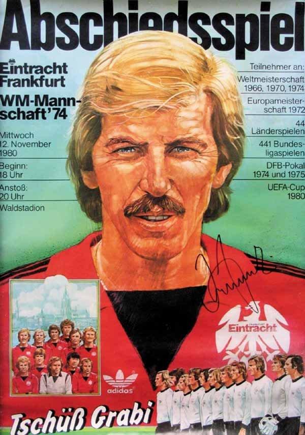 7236 german football poster 1974 eintracht frankfurt lot 7236. Black Bedroom Furniture Sets. Home Design Ideas