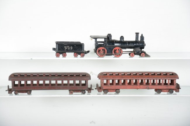 Nycrr Cast Iron Train: 1895 Wilkins Cast Iron Floor Train : Lot 321