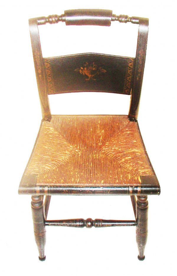 234 Hitchcock Stenciled Side Chair With Rush Seat Lot 234