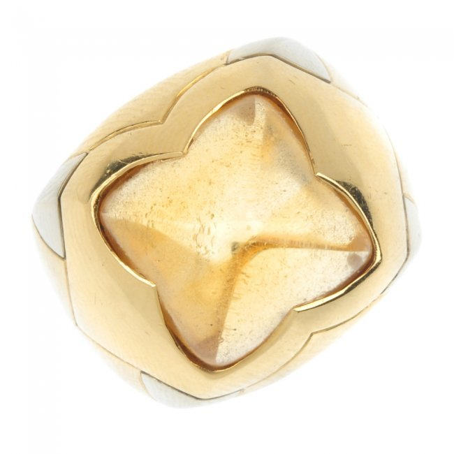 Bulgari A Citrine Pyramid Ring Lot 252