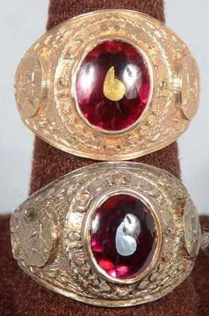 1240 two ku klux klan member rings dated 1961 with gar