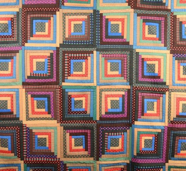 Barn Raising Quilt Pattern Free Knitting : 288. Pennsylvania Log Cabin Barn Raising Pattern Quilt. : Lot 288