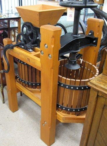 76 Cedar And Black Cast Iron Cider Press P P Mast