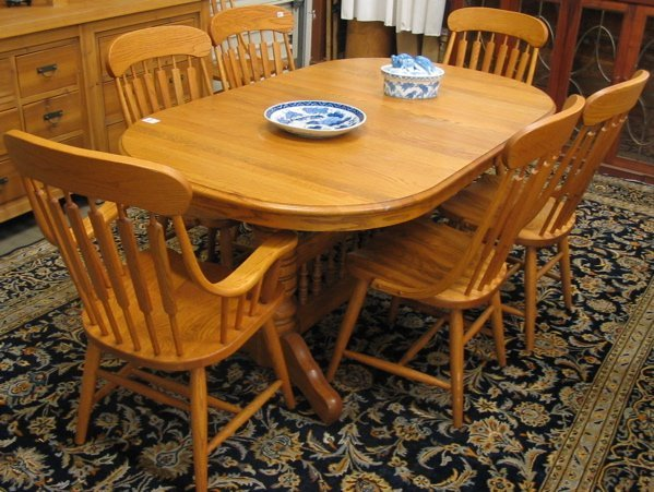 457 SET OF TEN OAK DINING CHAIRS Richardson Brothers Lot 457