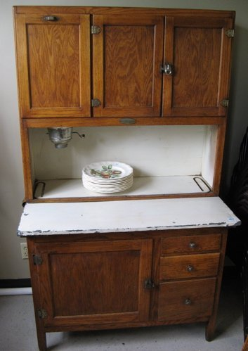 antique hoosier kitchen cabinet 2