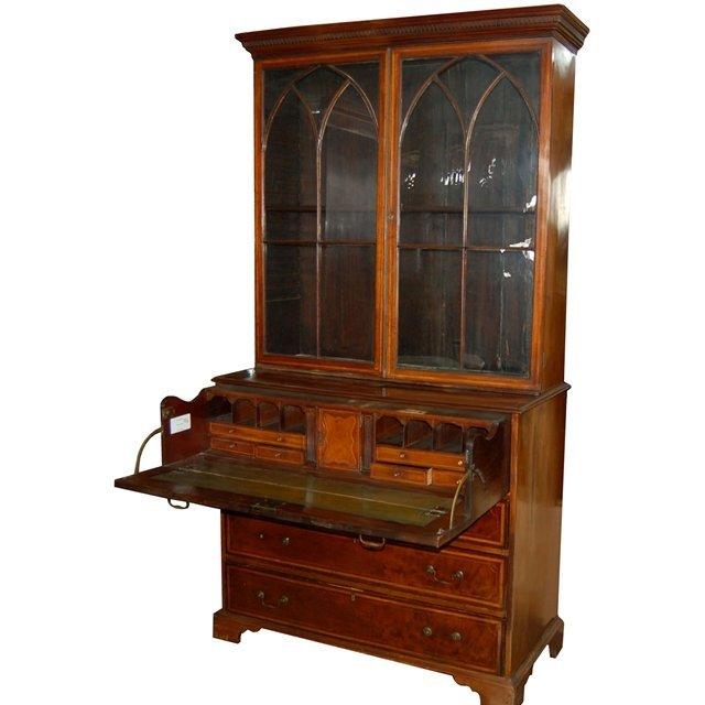 7426 Antique English Mahogany Secretary Desk Lot 5178