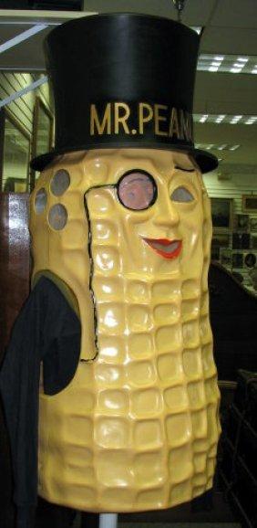 1144 Neat Vintage Mr Peanut Plastic Costume For Adult