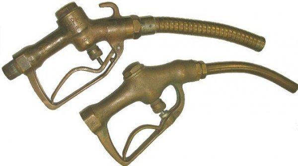 Old brass gas pump nozzles buckeye opw lot