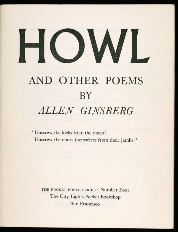 Howl and other Poems Cover