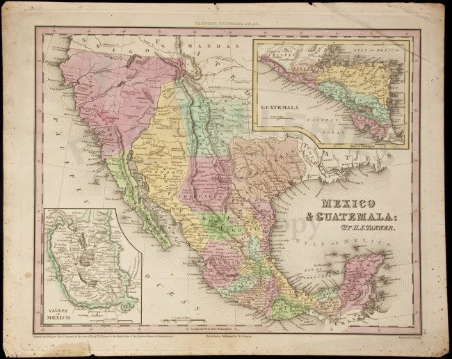 300 Tanner Map Of Mexico Amp Southwest 1834  Lot 300
