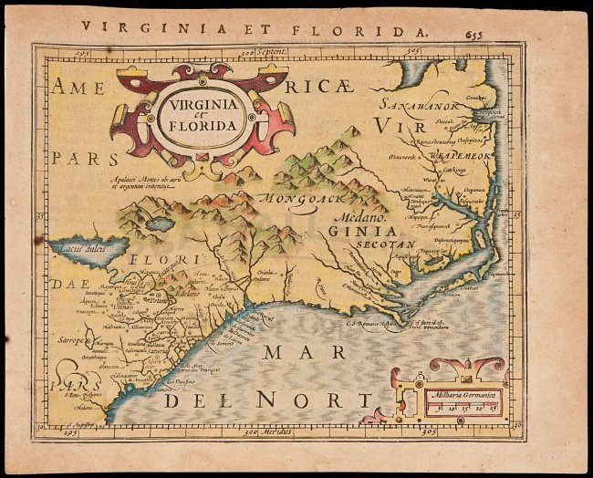 Map Of Virginia 1607 Pictures To Pin On Pinterest  PinsDaddy