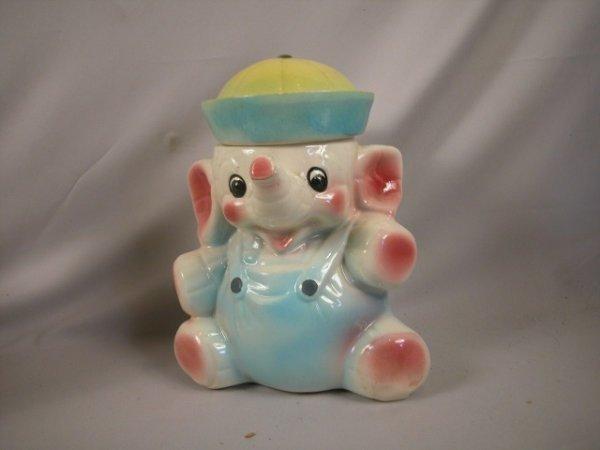 1380 american bisque elephant cookie jar chip to hat lot 1380 - Vintage elephant cookie jar ...