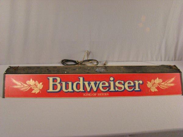 180 budweiser pool table hanging lamp 48 lot 180. Black Bedroom Furniture Sets. Home Design Ideas