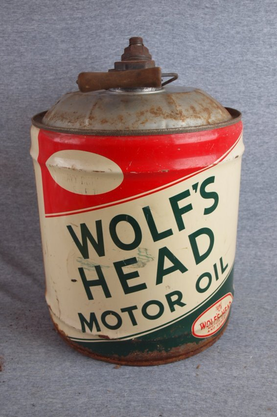 Wolf 39 S Head Motor Oil 5 Gallon Oil Can Losses Lot 32