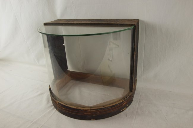 Countertop curved glass display case from kollman cas Vintage countertop display case