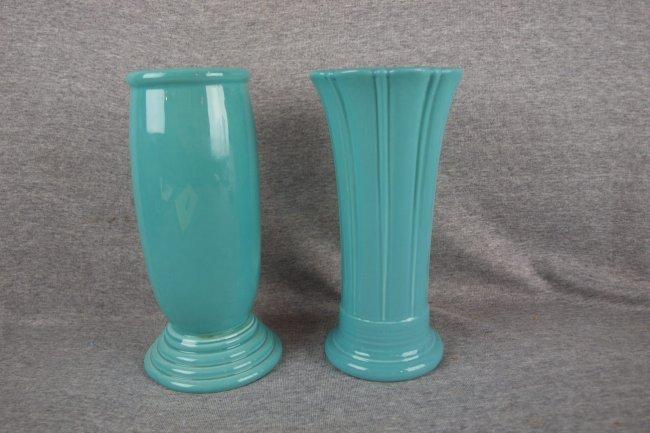Fiesta post 86 turquoise Millennium III & medium vases