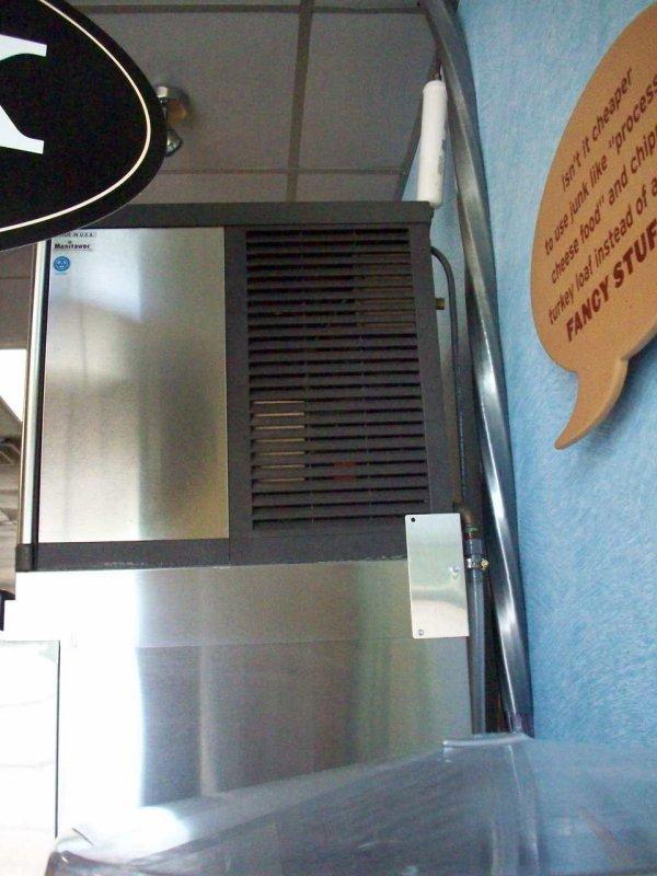 manitowoc machine soda top mounted