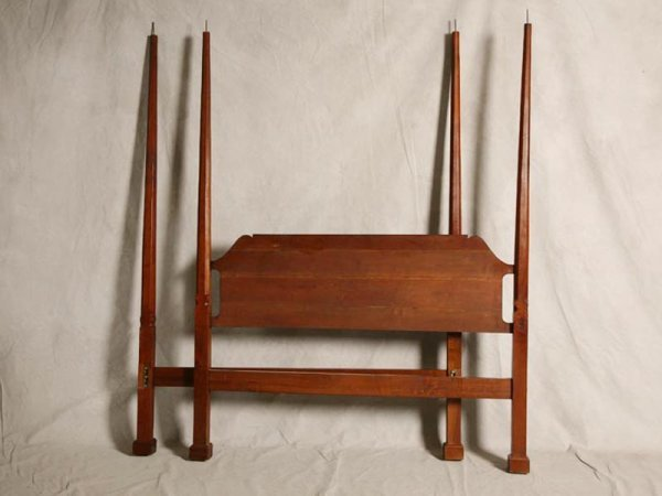 2472 pencil post bed cherry with canopy and finials