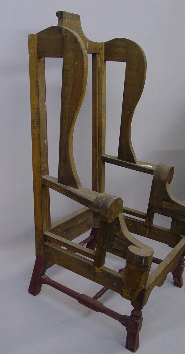 how to build a wingback chair frame
