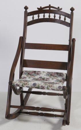 365: Antique Victorian Folding Rocking Chair : Lot 365
