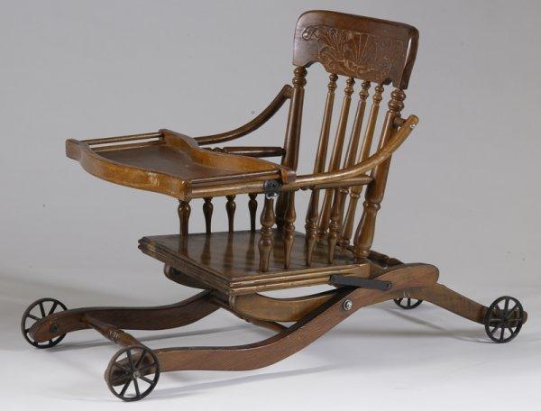 Antique High Chair Stroller - Antique High Chair Stroller Antique Furniture  - Antique High Chair Converts - Antique High Chair Converts To Stroller Antique Furniture