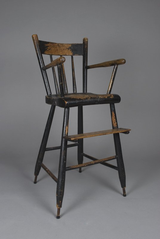 458 antique child 39 s high chair lot 458