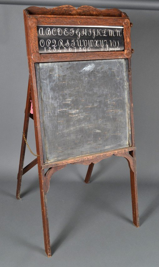 351 Child S Antique Easel Chalkboard Lot 351