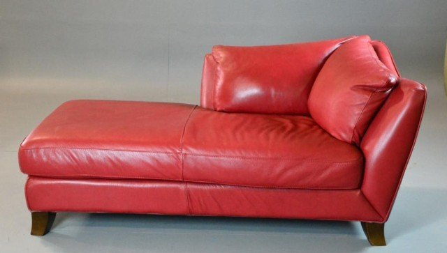 Modern Red Leather Chaise Best Cars 2018