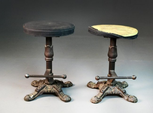 561 Pair of Antique Cast Iron Bar Stools Lot 561 : 147512821l from www.liveauctioneers.com size 650 x 481 jpeg 36kB