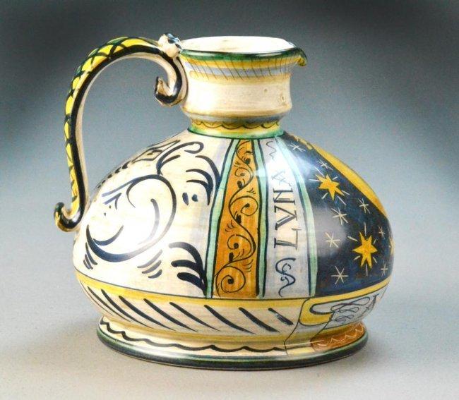 Italian Saca Castelli Ceramic Jug Lot 509