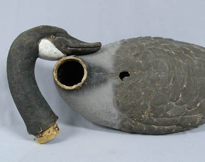 Paper mache duck decoy wood bottom