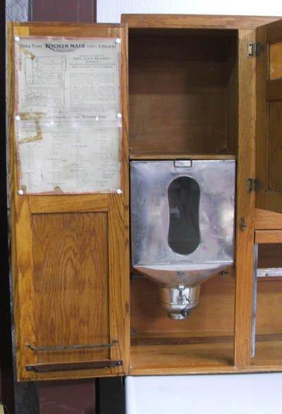 Kitchen Maid : 1830: Antique Oak Kitchen Maid Hoosier Cabinet