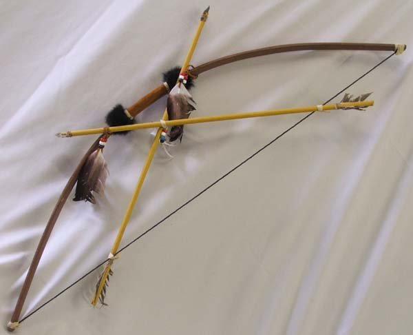 asian antiques indian bow and arrow