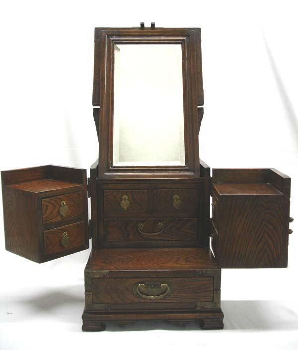 Antique asian wooden dressing table jewelry box lot 1328 for Box table design
