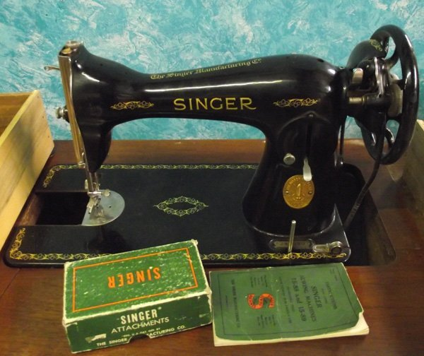 1930 singer sewing machine with cabinet