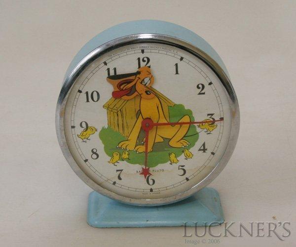 1080: A Vintage Pluto Alarm Clock by Bayard : Lot 1080