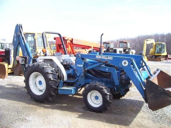 Ford 2120 Tractor : Ford nh wd tractor loader backhoe lot
