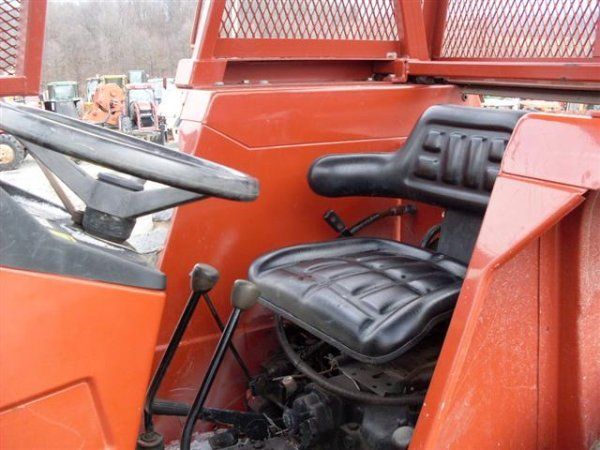 Tractor Forestry Package : Hesston wd tractor w forestry package winch