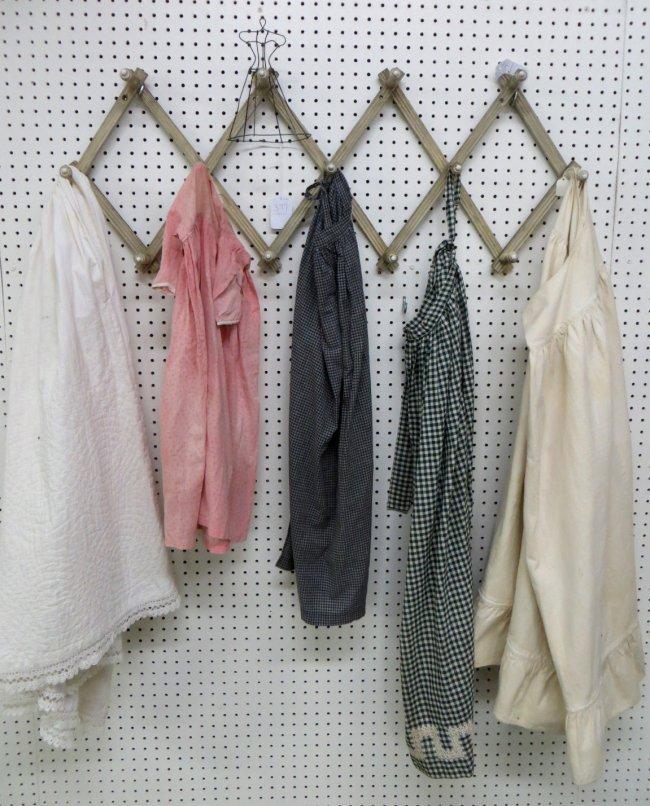377 lot of vintage clothing folding hat rack miniatu