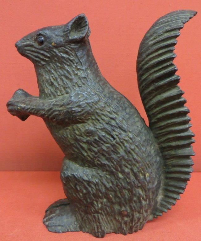 58 cast iron full body squirrel door stop 10 h chi lot 58 - Cast iron squirrel door stop ...