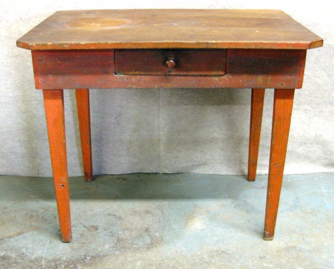 primitive kitchen work table with scrubbed pine top lot 22