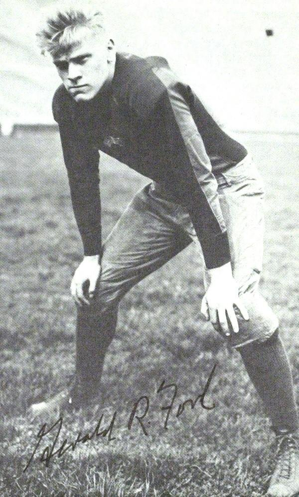 161 Gerald Ford Football Photo Lot 161