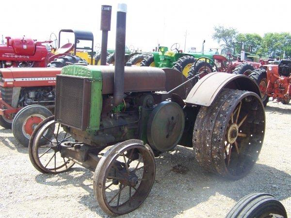 Antique Tractor Steel Wheels : John deere d antique tractor on steel wheels lot