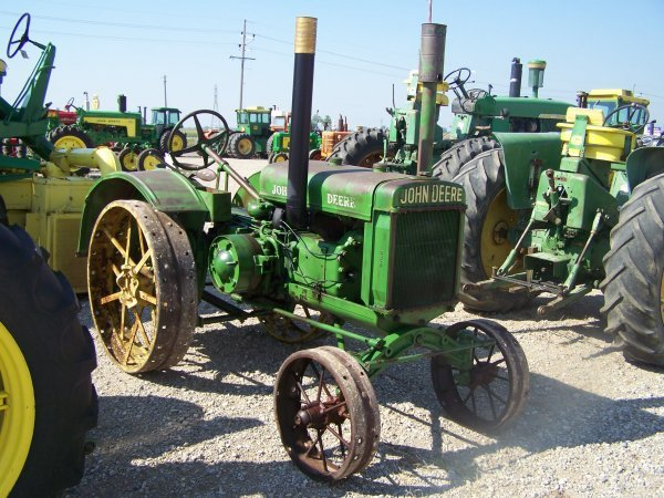 Antique Tractor Steel Wheels : John deere gp antique tractor with steel wheels lot